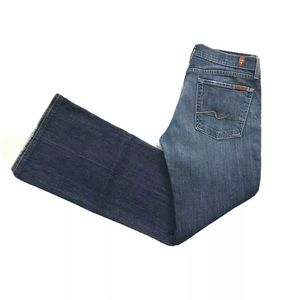 7 For All Mankind Flare Stretch Denim Jeans